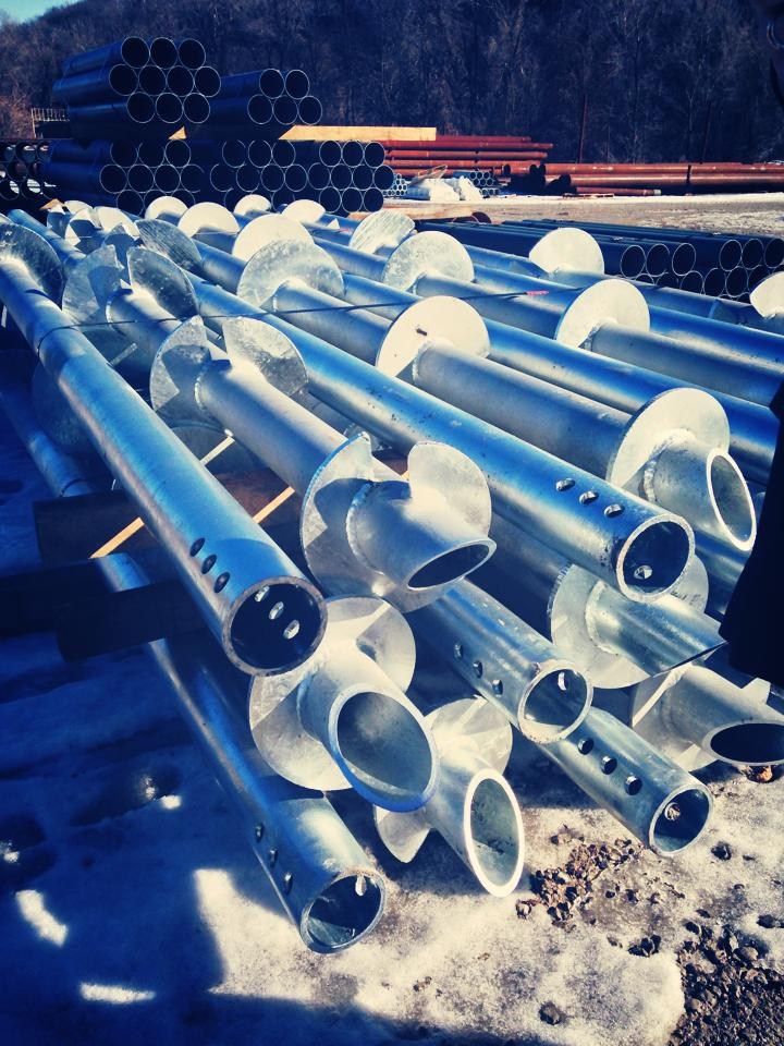 Helical Piers Install